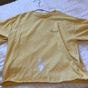 Brandy Melville honey yellow shirt